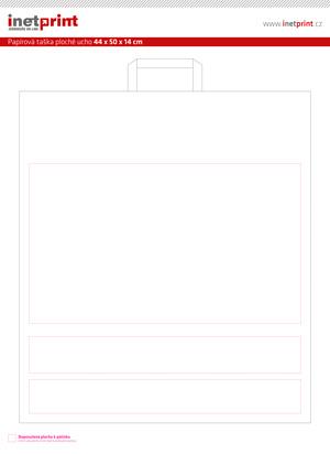 Maketa pro přípravu potisku pro produkt: Papírová taška CLASSIC EKO (HS) - 44 x 50 x 14 cm