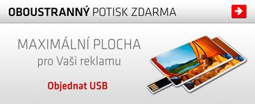 Plnobarevn� potisk USB karty zdarma