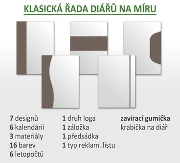 Výroba diářů na míru - KLASICKÁ ŘADA H