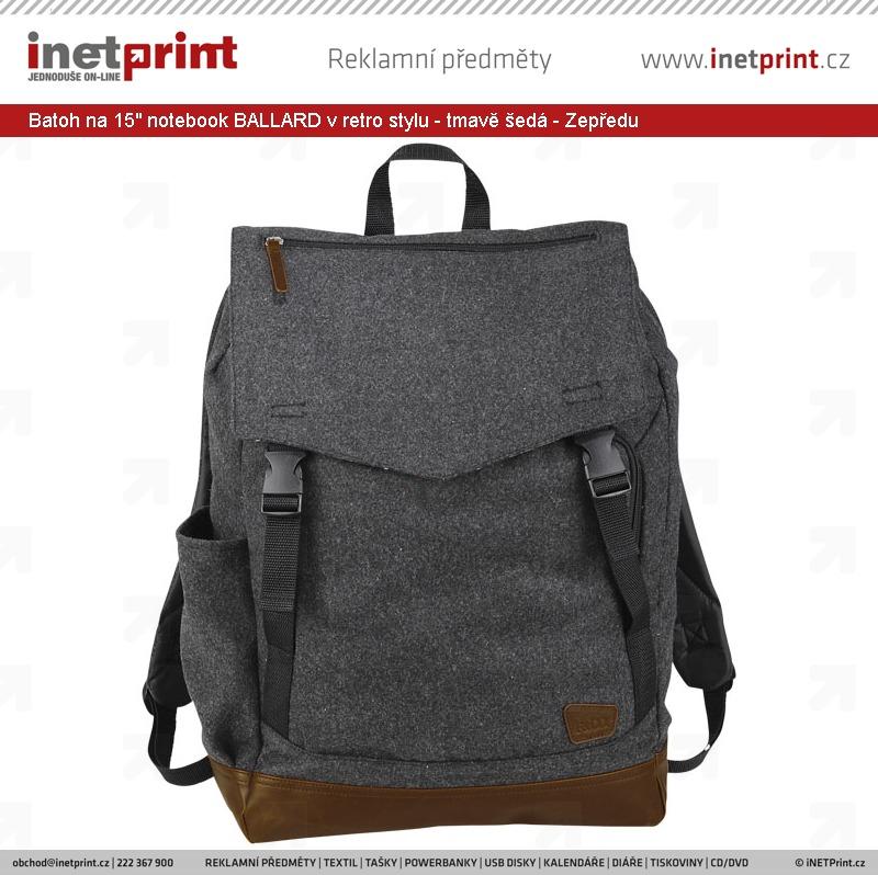 Značkový batoh na 15