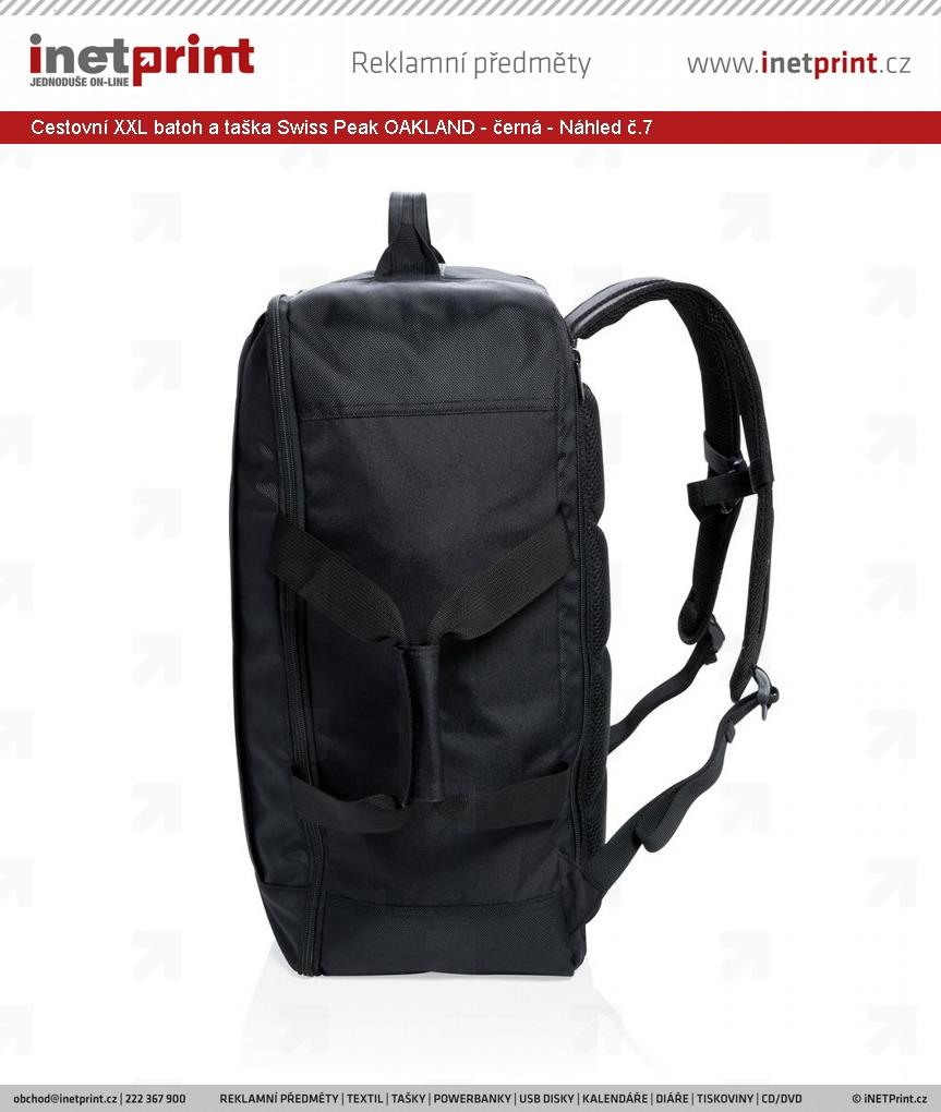 +5 dalších · Značkový cestovní XXL batoh a taška Swiss Peak OAKLAND - černá  - Náhled č.7 ... a2fc37c07e