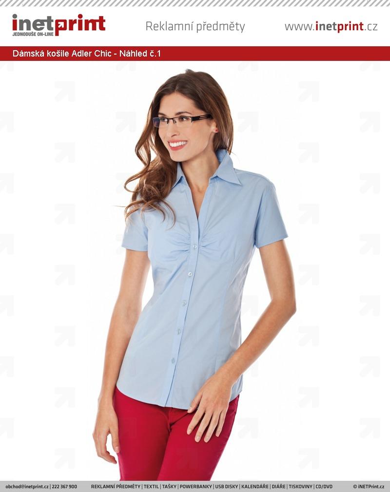 8e3f1884f18 Dámská košile Adler Malfini Chic - Náhled č.1