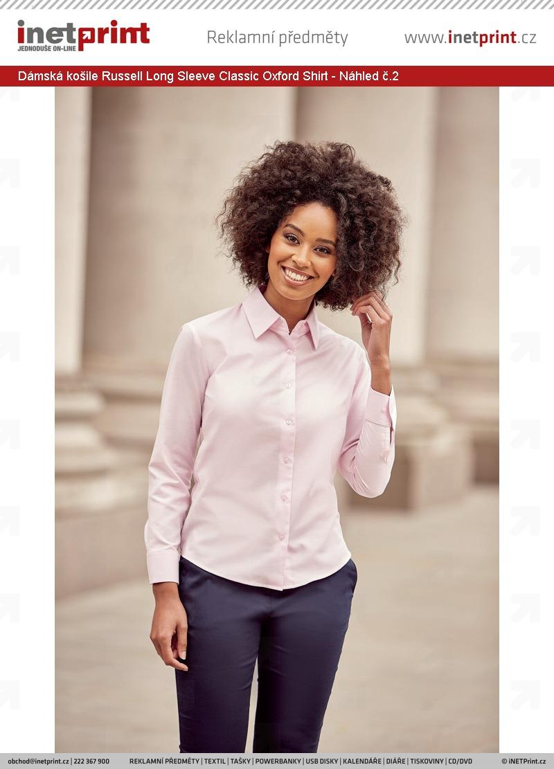 a0ff361830c ... č.1 Dámská košile Russell Ladies´ Long Sleeve Easy Care Oxford Shirt -  Náhled č.2 ...
