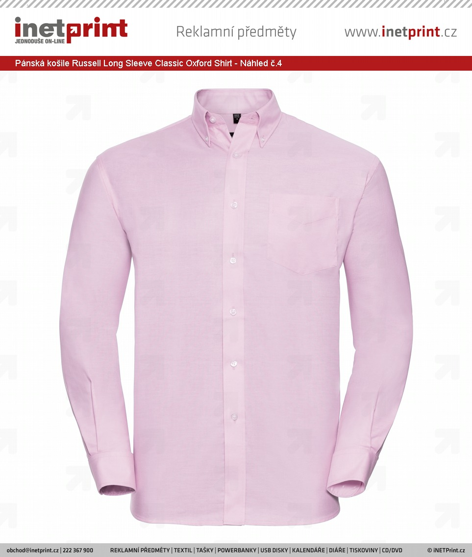 2b4482ef0ae Pánská košile Russell Men´s Long Sleeve Easy Care Oxford Shirt - Náhled č.