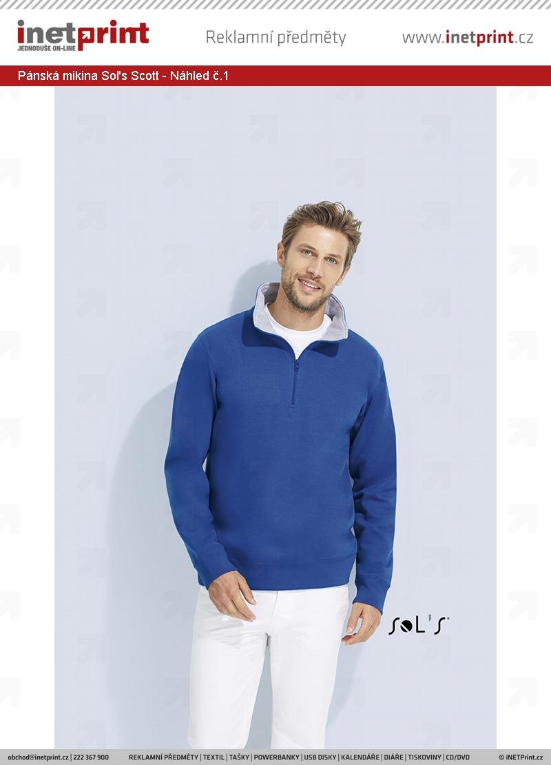 b9ed4aa14 Branding: Pánská mikina Sol's Scott, barva French Navy / Grey ...