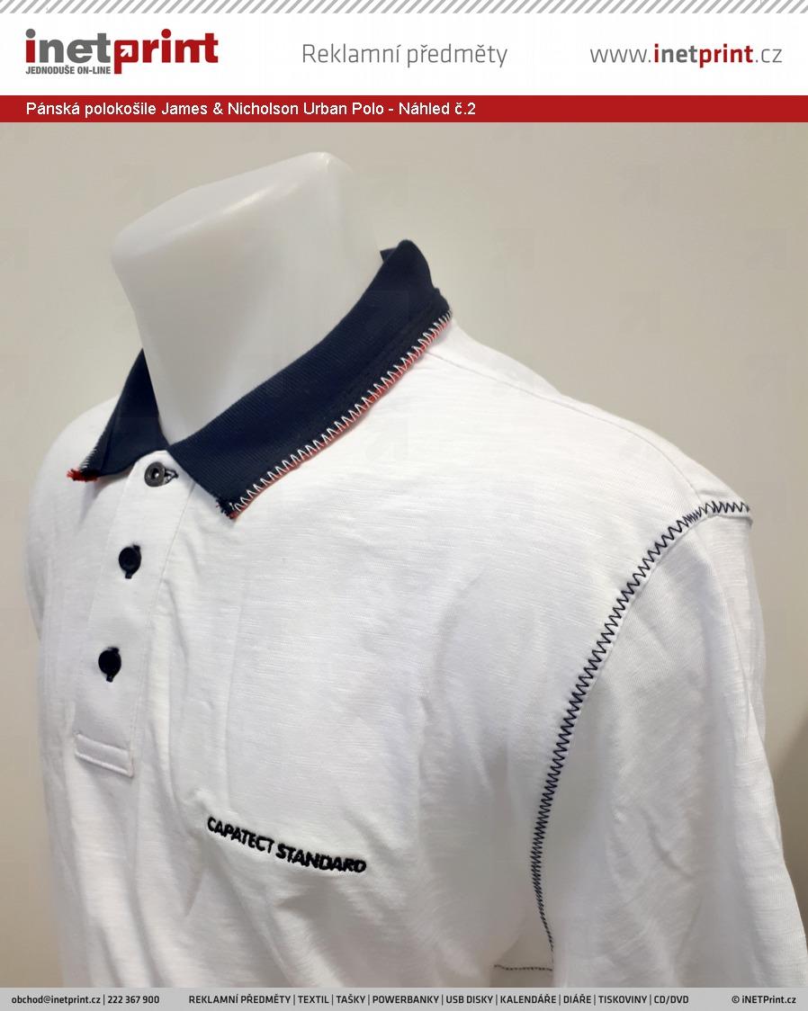 ... Pánská polokošile James   Nicholson Mens Urban Polo - Náhled č.2 b9337b4904