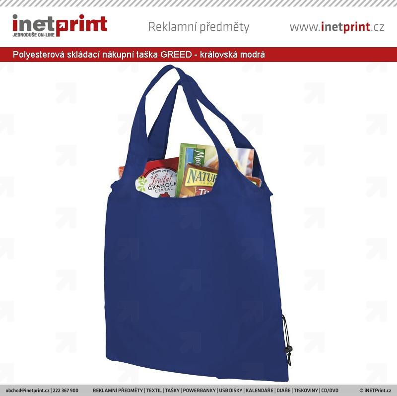 b1fbe40ef Náhled produktu Polyesterová skládací nákupní taška GREED - královská modrá