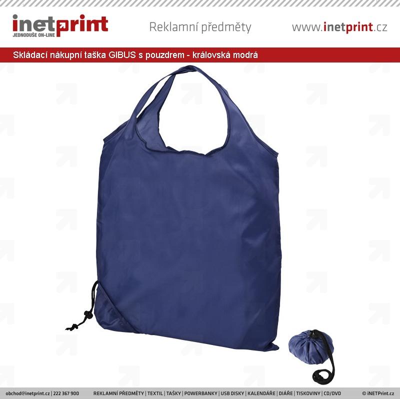 4e18c0411 Náhled produktu Skládací nákupní taška GIBUS s pouzdrem - královská modrá