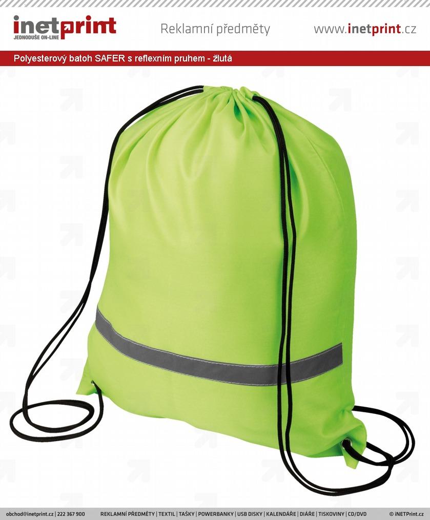 202f7320ae Náhled produktu Polyesterový batoh SAFER s reflexním pruhem - fluorescenční  zelená