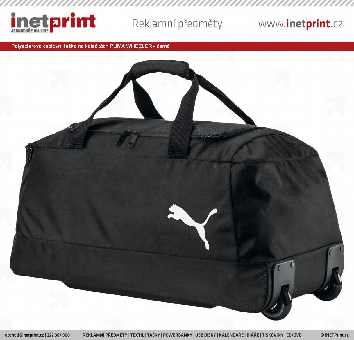 Značková polyesterová cestovní taška Puma WHEELER na kolečkách ... 211462a308d