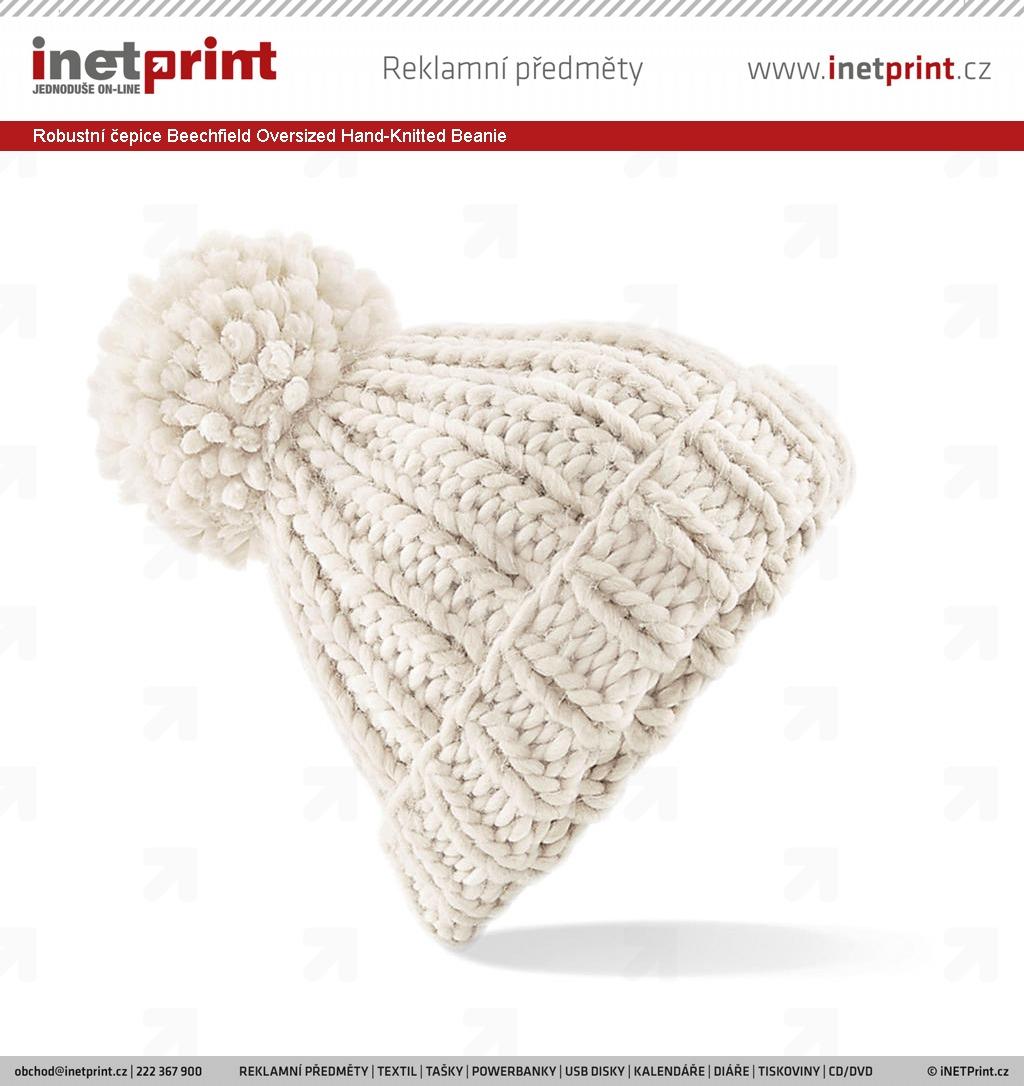bc16af831a0 Robustní čepice Beechfield Oversized Hand-Knitted Beanie - iNETPrint.cz