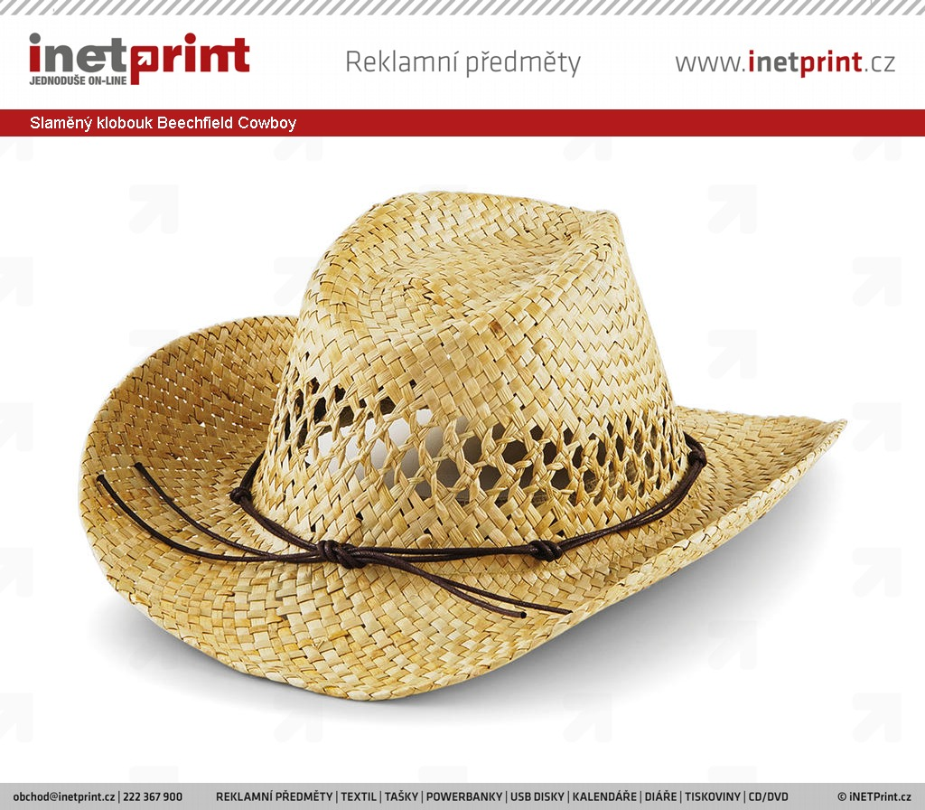 b9b4d54ea69 Slaměný klobouk Beechfield Cowboy. Náhled produktu