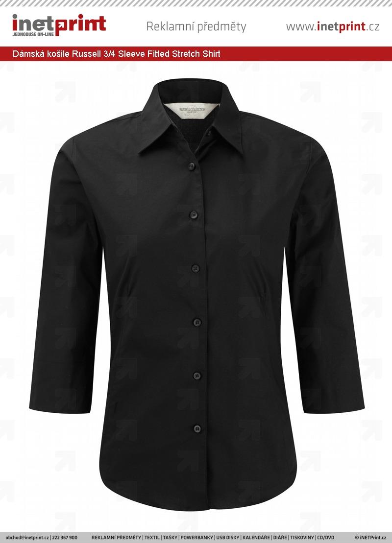 Branding  Dámská košile Russell Ladies´ 3 Sleeve Easy Care Fitted Shirt b63da8c7c1