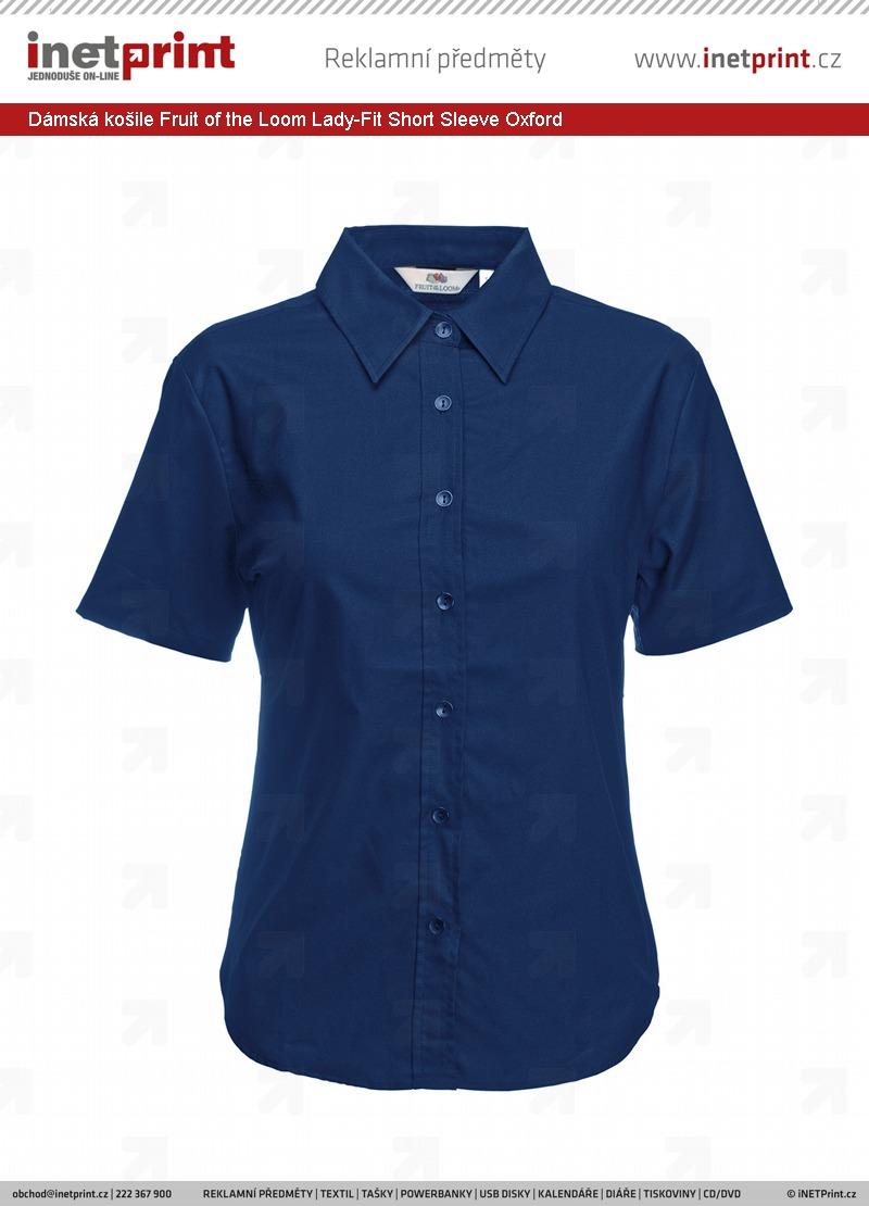 Dámská košile Fruit of the Loom Lady-Fit Short Sleeve Oxford ... 05a4e33c0f
