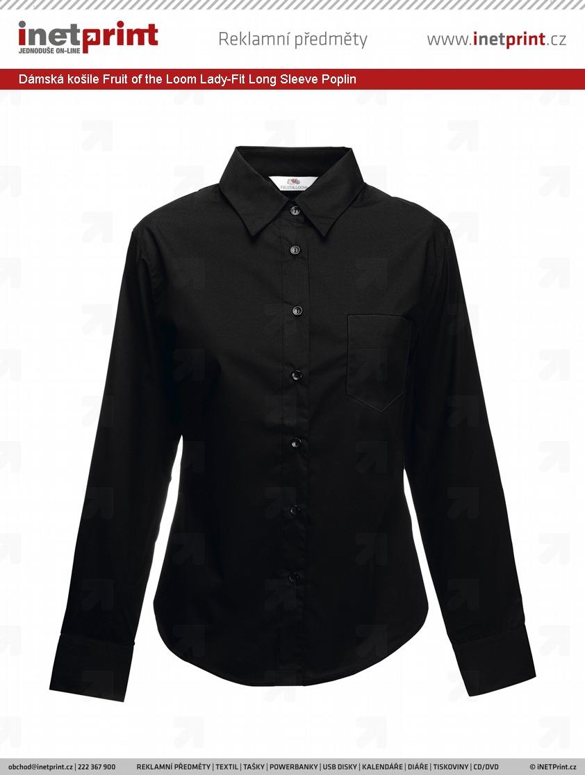 Dámská košile Fruit of the Loom Lady-Fit Long Sleeve Poplin ... 6a838fad27