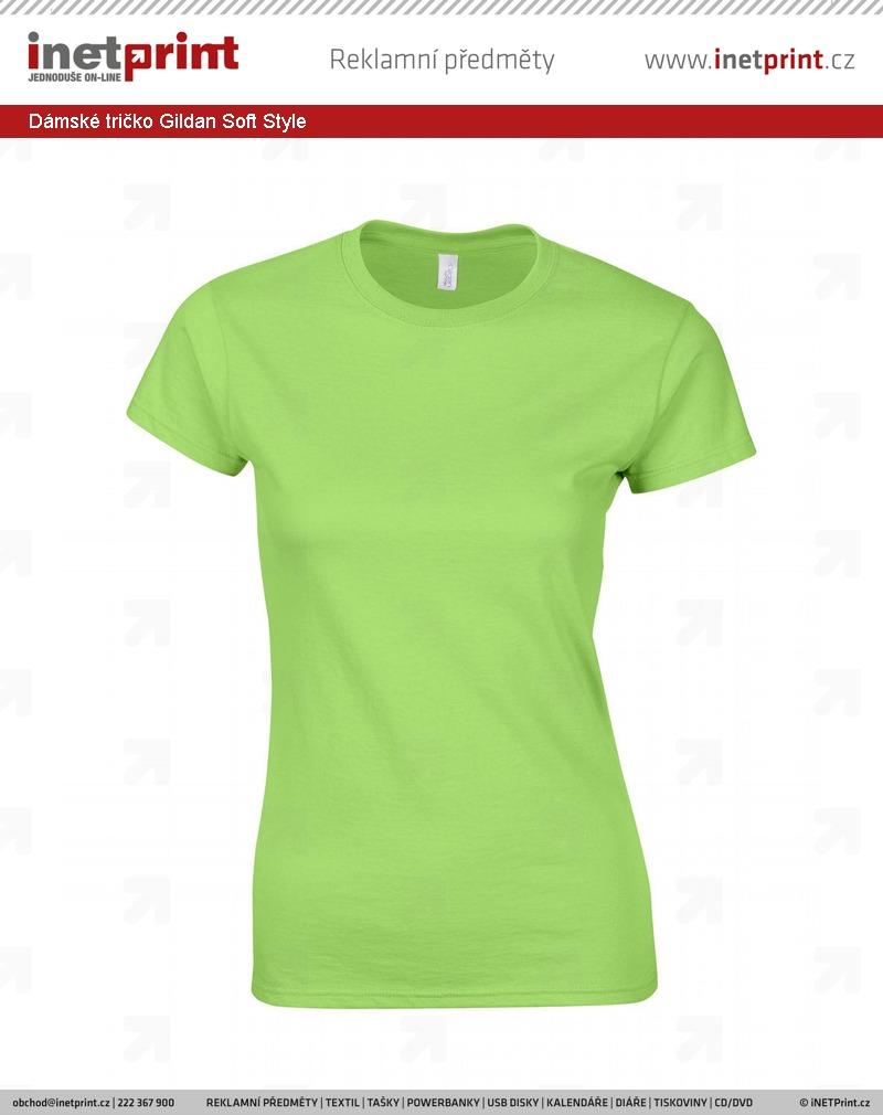 30efb0db7 Dámské tričko Gildan Soft Style. Náhled produktu