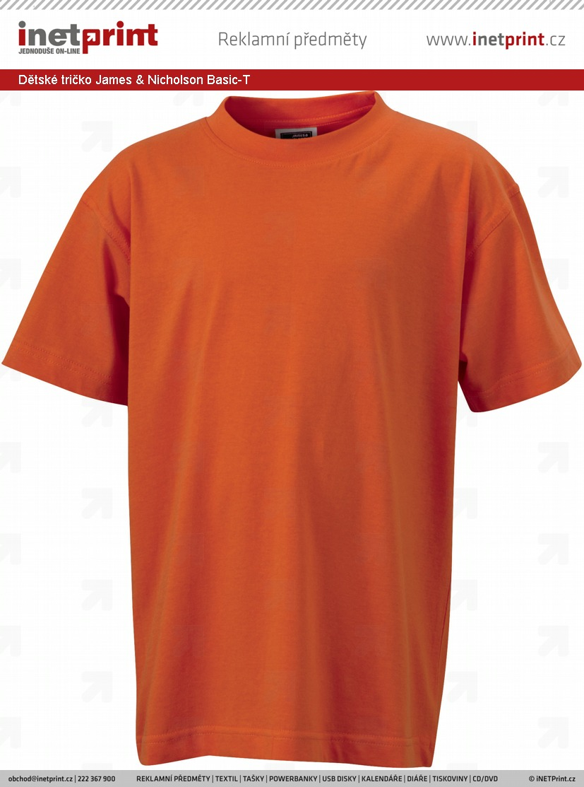 Skladové zásoby  Dětské tričko James   Nicholson Junior Basic-T ... 77ccf911dd