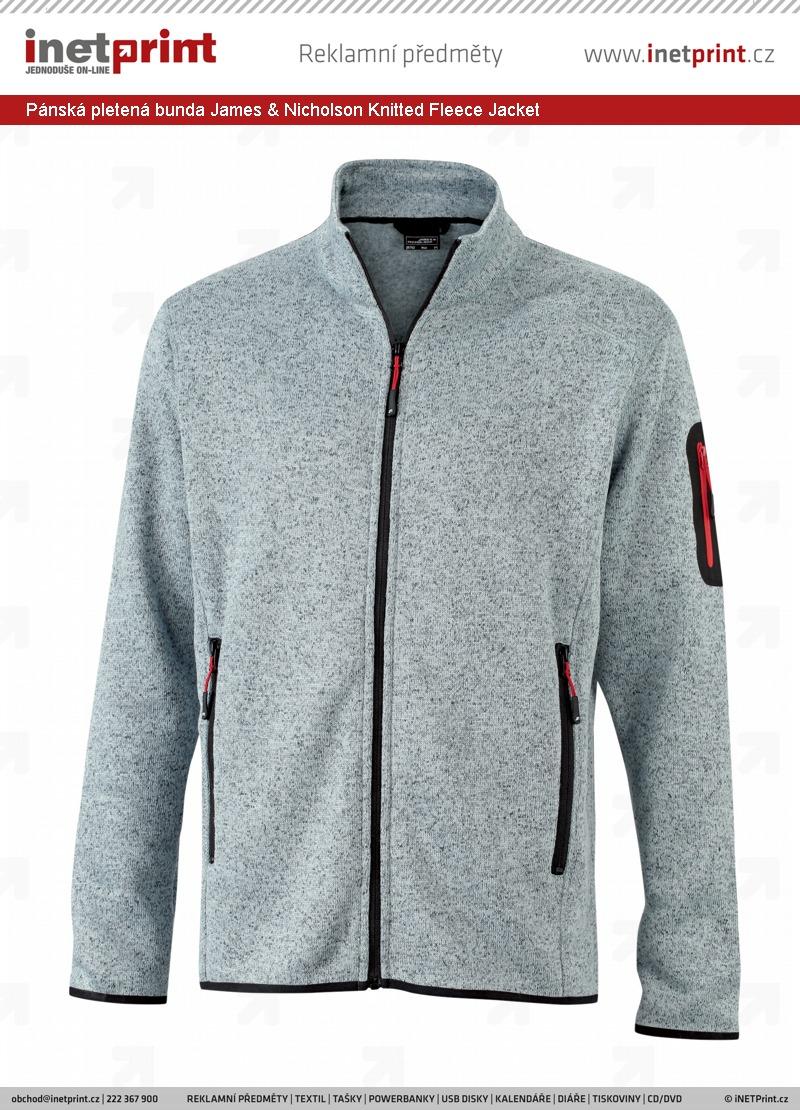 5a22e48c2641 Náhled produktu Pánská pletená bunda James   Nicholson Mens Knitted Fleece  Jacket