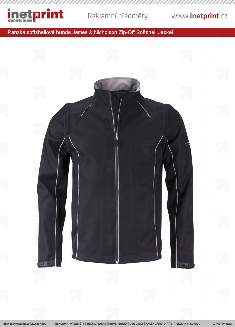 Pánská softshellová bunda James   Nicholson Mens Zip-Off Softshell ... 3b7a875703