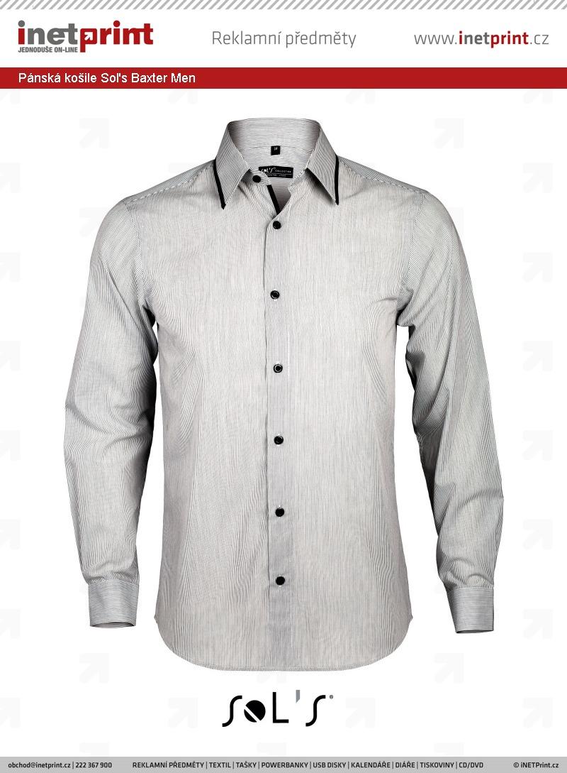 Pánská košile Sol s Baxter - iNETPrint.cz a5976d525d