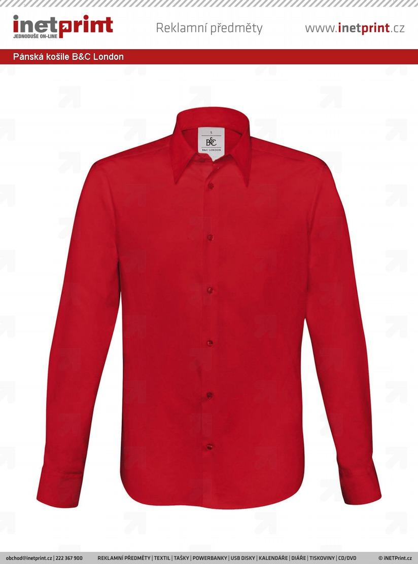3292b85b4d2 Pánská košile B C London - iNETPrint.cz