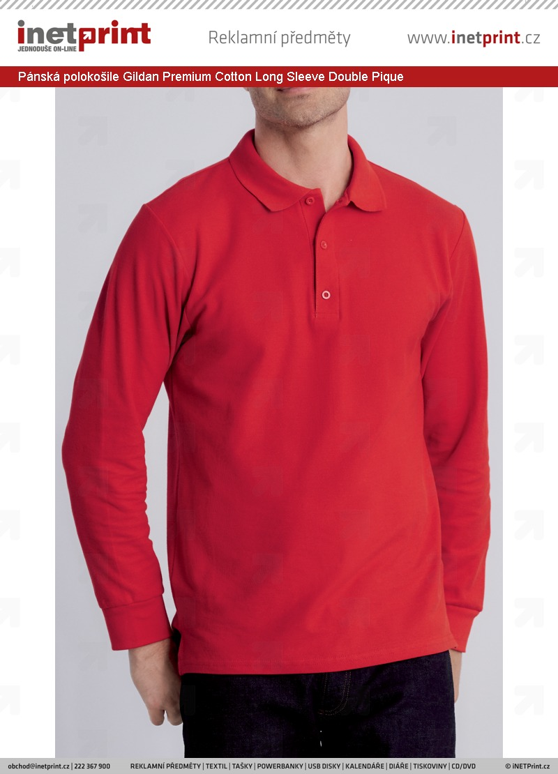 Komplexní ceník  Pánská polokošile Gildan Premium Cotton Double ... 6bd81aac38