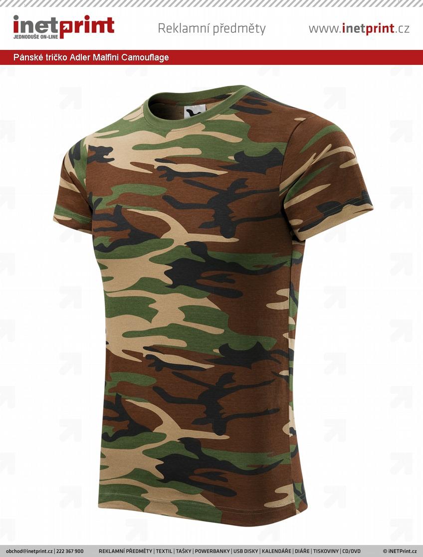 356374611ec2 Náhled produktu Pánské tričko Adler Malfini Camouflage