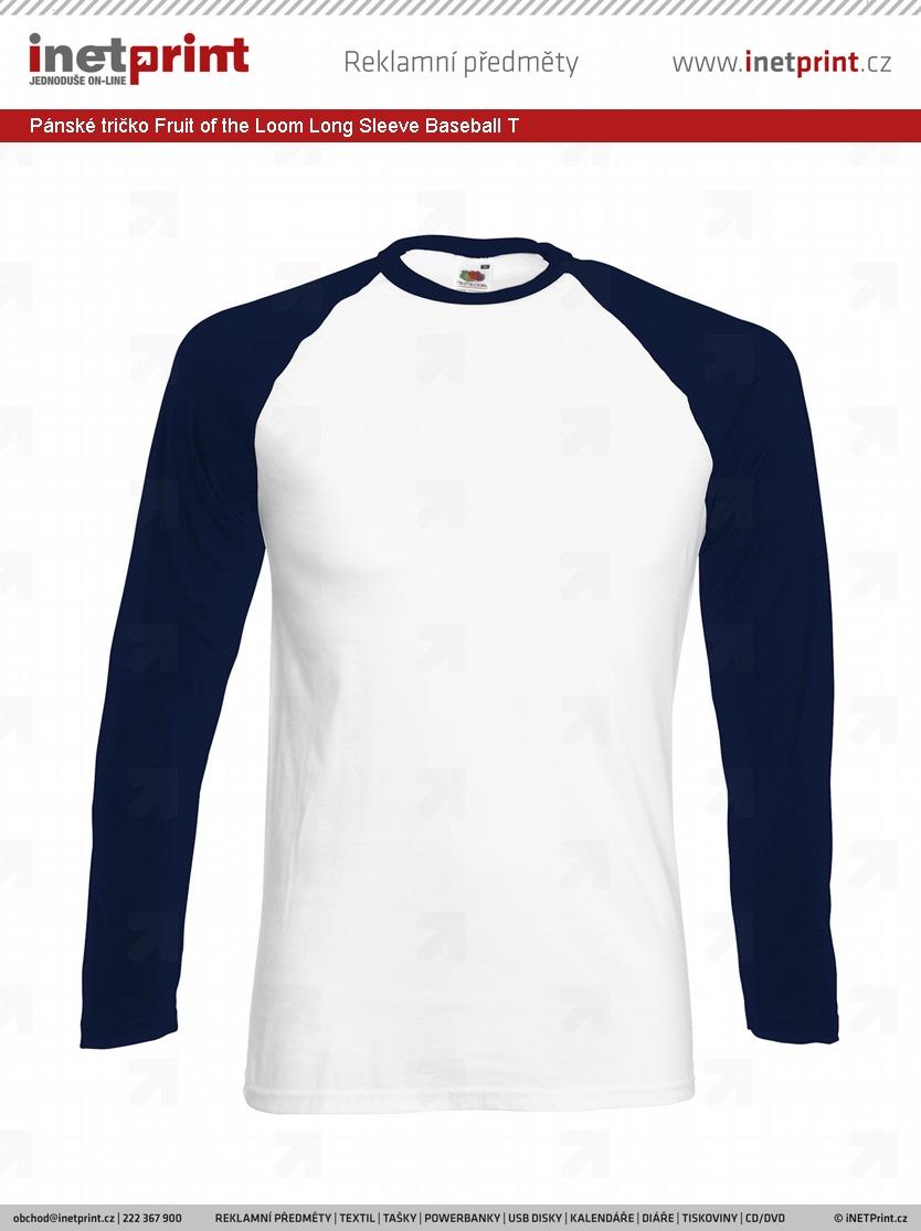 Branding  Pánské tričko Fruit of the Loom Long Sleeve Baseball T ... 00919c53d9