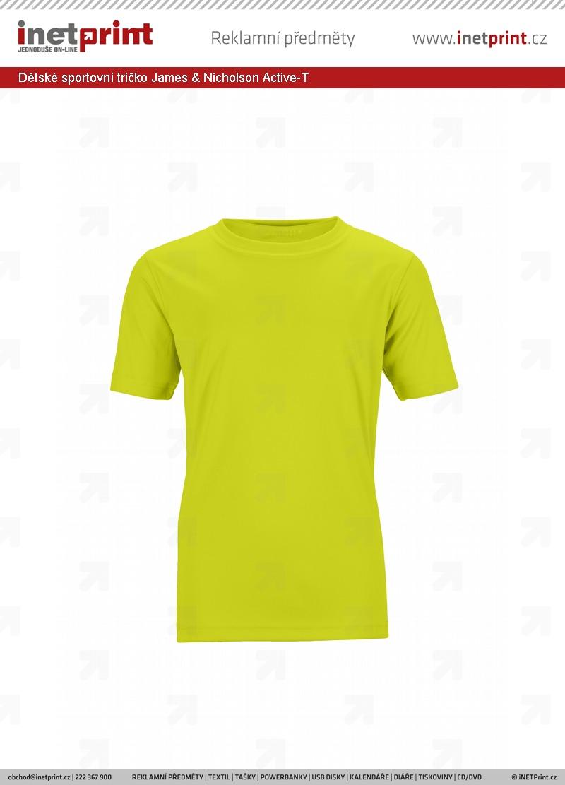 Komplexní ceník  Dětské sportovní tričko James   Nicholson Active-T ... 5f4694d45c