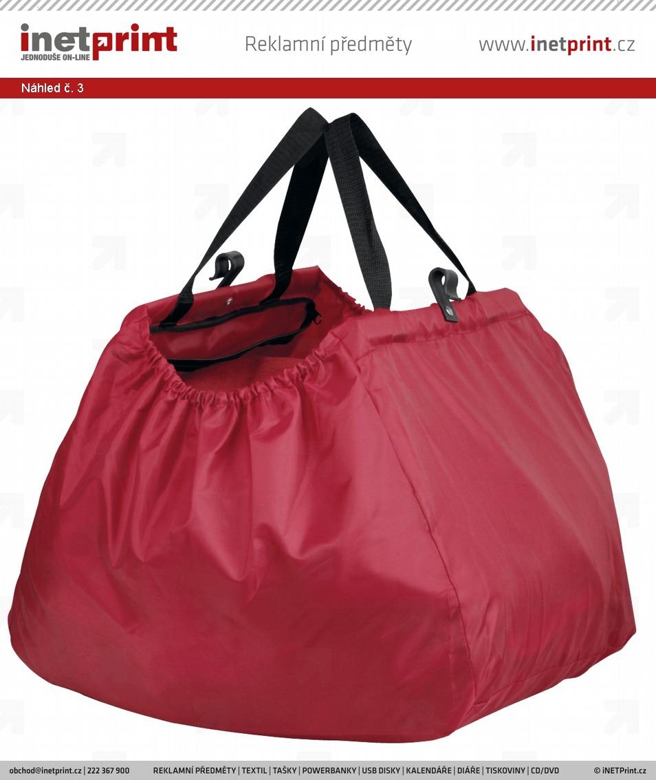 e78df870c 2 Skládací nákupní taška ARIEN s úchyty - černá - Náhled č. 3 ...