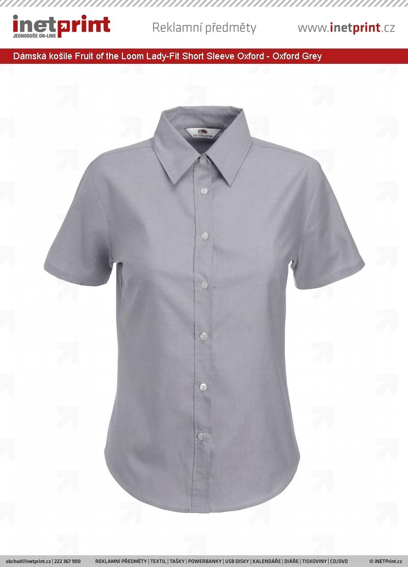 Dámská košile Fruit of the Loom Lady-Fit Short Sleeve Oxford ac460e11fa