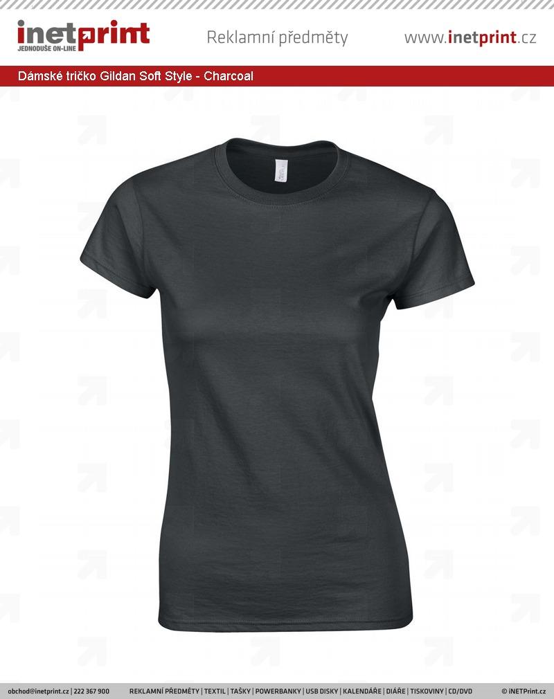 49e35d6d1 Dámské tričko Gildan Soft Style - iNETPrint.cz