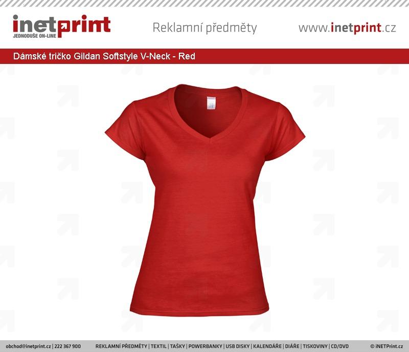 7b0651bbd7a1 Dámské tričko Gildan Softstyle Ladies  V-Neck T-Shirt - iNETPrint.cz