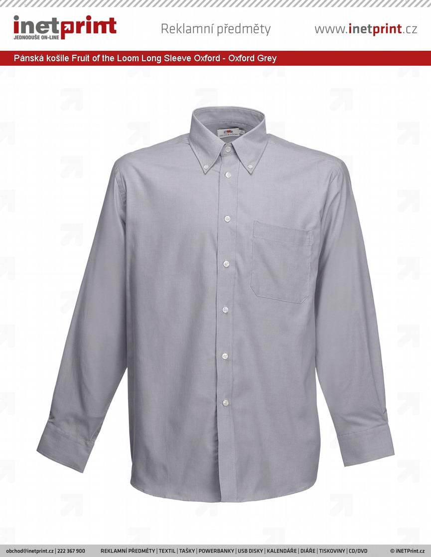 Pánská košile Fruit of the Loom Long Sleeve Oxford 1190159543