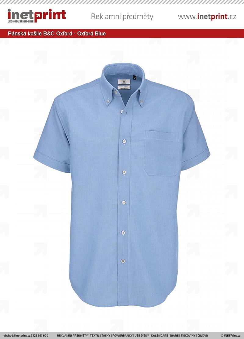 Technické informace  Pánská košile B C Oxford 5fc90b7677
