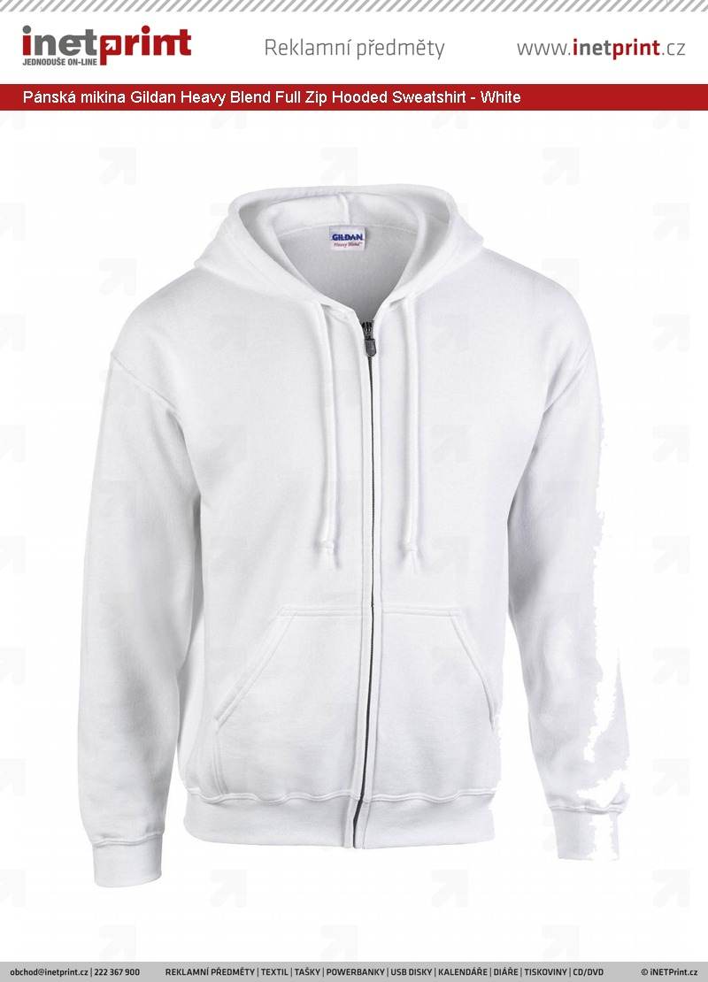 dd8ae6df4ee Pánská mikina Gildan Classic Fit Full Zip Hooded Sweatshirt Heavy ...